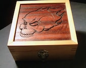 Flaming Skull Box