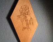 Fire Tattoed Lady on Oak...