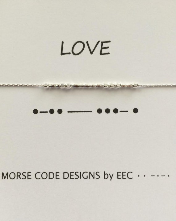 BEAUTIFUL Morse Code Necklace Sterling Silver or 14K Gold Filled