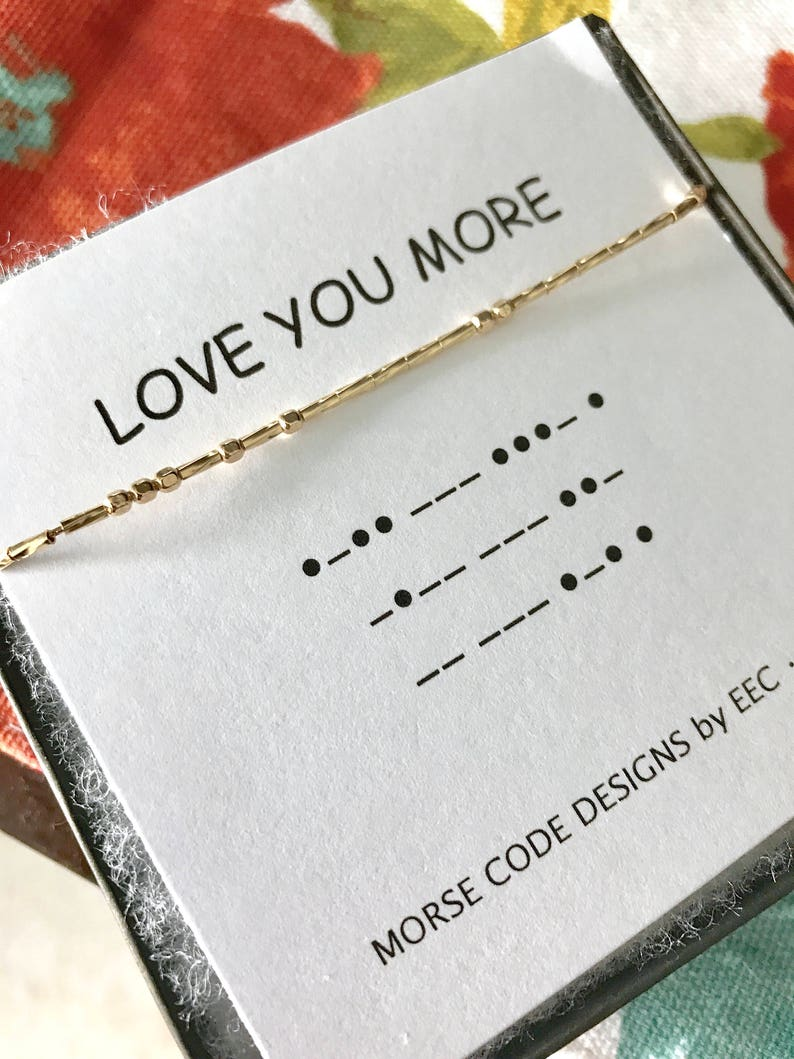 LOVE YOU MORE Morse Code Necklace, Secret Message, Secret Code, Sister  Gift, Cousins, Sister in Law Gift