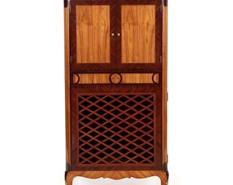 French Antique Music Cabinet | Vintage Curio Cabinet | Louis Style  Furniture | Music Entertainment Cabinet