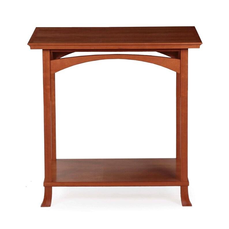 Custom Handmade Cherry End Table By Newport Design Studio Circa 1998