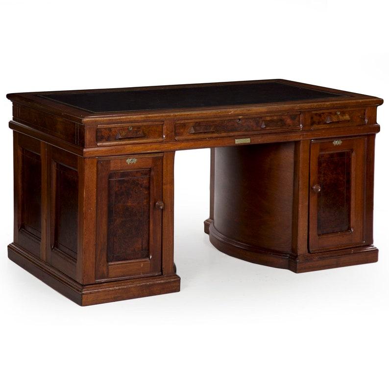 Antique Secretary Desk Etsy >> Antique Writing Desk Wooton S Patent No 8 Rotary Desk Victorian Partner Writing Table 19th Century