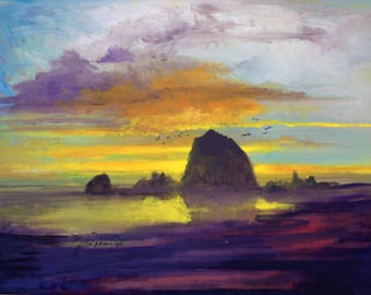 Haystack Rock- comes with selected frame