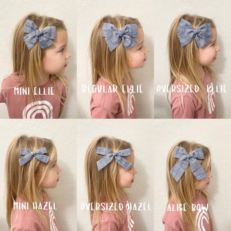 Christmas hair bow \u2022handtied hair clip\u2022red plaid hair bow\u2022\u2022hand tied hair bow\u2022\u2022Christmas plaid headband