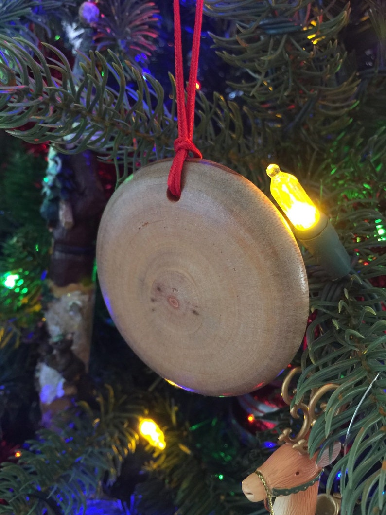 Hand turned. Wooden Christmas ornament