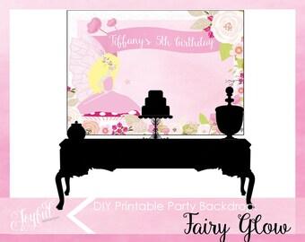 Fairy Birthday Party Backdrop