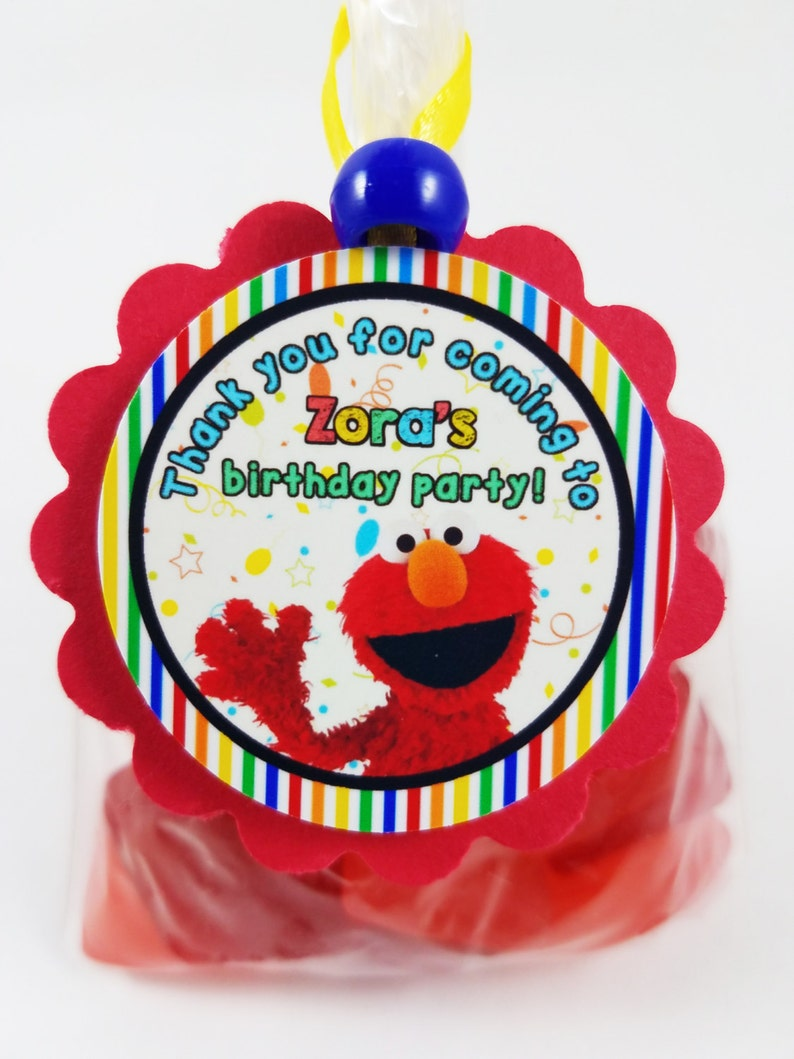 Personalized Sesame Street Elmo 2 Birthday Party Favor