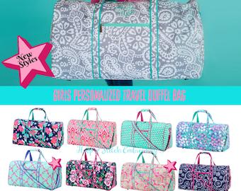 631dbb370b Girls Duffel Bag with Monogram