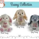 Bunny Personalized Plush, Little Elska Bunny Stuffie, Personalized Bunny Animal, Personalized Stuffed Animal
