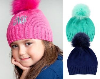 10793a6b221 Bella Monogram Kids Winter Hat