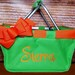 Ashley Dudley reviewed Green Mini Market Tote with Ribbon Monogrammed Personalized, Easter Basket, Grad Gift, Easter Market Tote, Kids Personalized Easter Basket