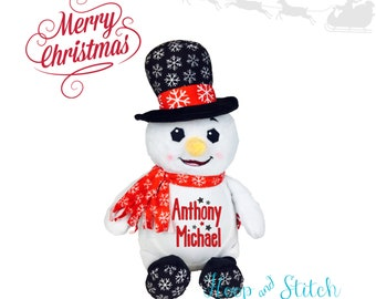 aabe91258 Plush snowman | Etsy