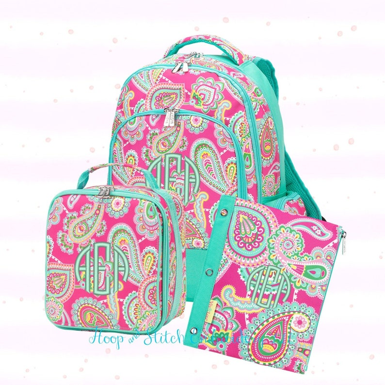 Lizzie Paisley Backpack and Lunch Bag Combo Girls Backpack image 0
