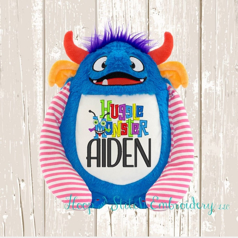 Blue Monster Personalized Cubbies Plush Keepsake Birth image 0