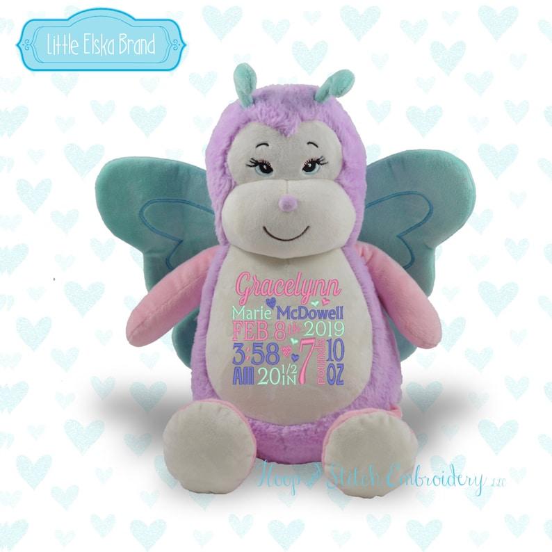 Butterfly Personalized Plush Little Elska Stuffie image 0