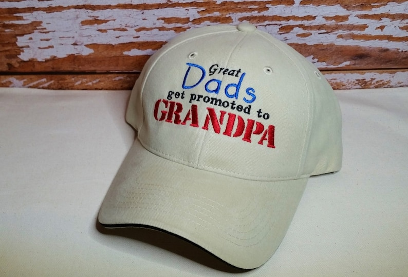 Great Dads get promoted to Grandpa Hat Perfect for Grandpa image 0