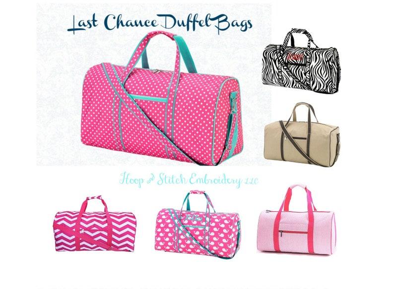 Monogram Duffel Girls Duffel Bag Boys Duffel Bag Kids image 0