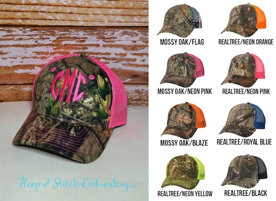 Women s Camo Trucker Cap or Hat with Monogram for Wedding  ed887a68a1