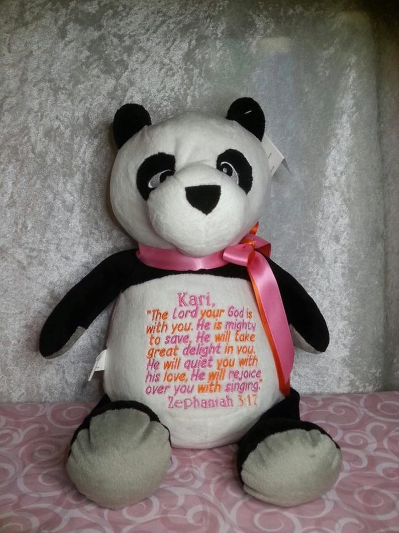Panda Personalized Cubbies Plush Keepsake Birth Birthday image 0