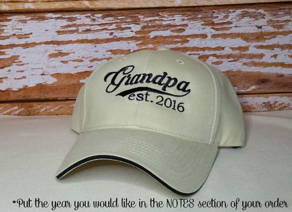 Grandpa established 2016 Hat or XXXX Embroidered Perfect for  32cd09154d3d