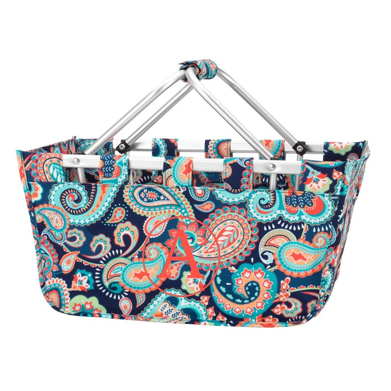 Emerson Viv & Lou® Market Tote with Ribbon Monogrammed image 0