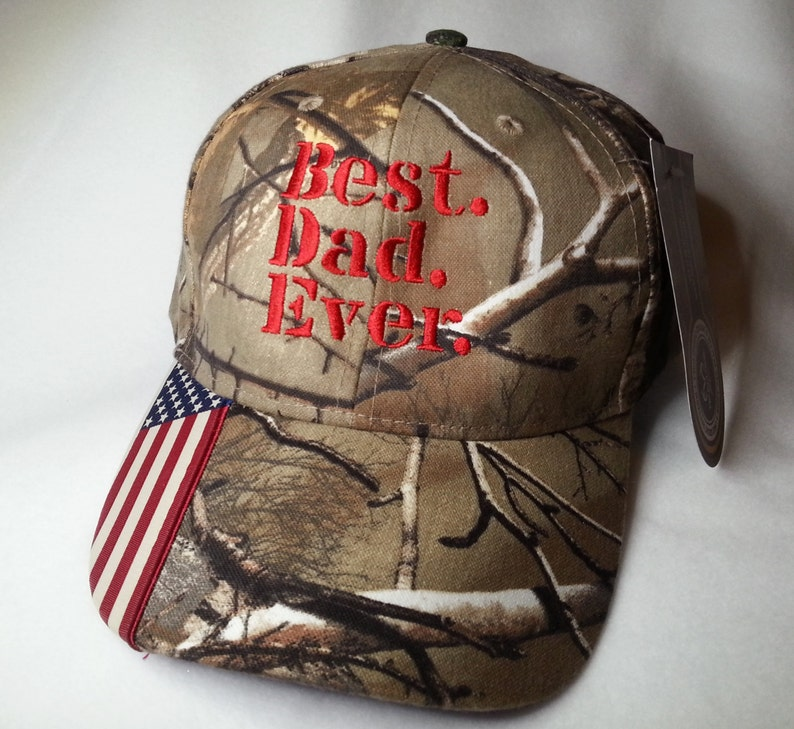 Best. Dad. Ever. Mossy Oak Camo Stylish Distressed Hat image 0