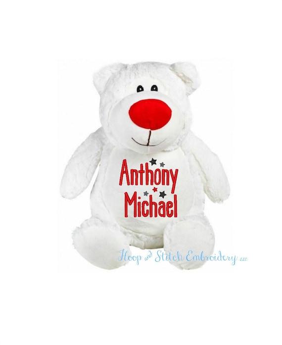 8f49be4676a White Bear Personalized Cubbies Plush Keepsake Birth