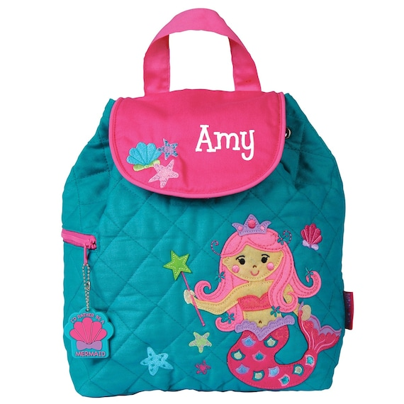 56e123f763ce Mermaid Teal and Pink Quilted TODDLER Backpack Stephen