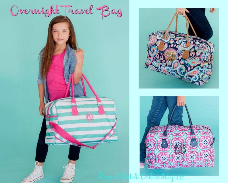 Travel Bag Viv & Lou® with Monogram Overnight Bag Paisley image 0