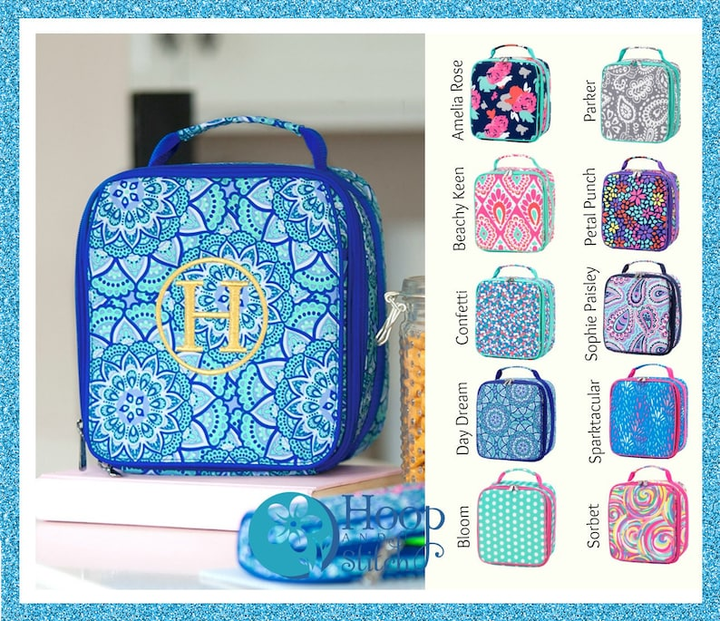 Personalized Lunch Bag Viv & Lou® Lunch Bag Monogram Lunch image 0