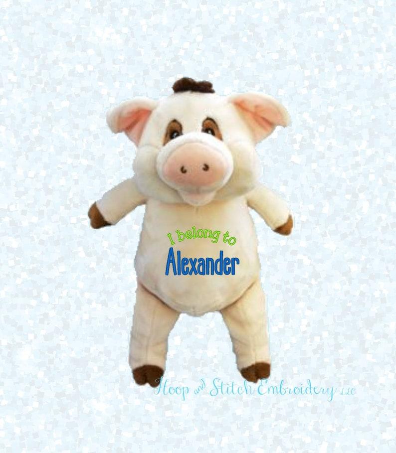Warthog Cubbie Personalized Cubbies Plush Keepsake Birth image 0