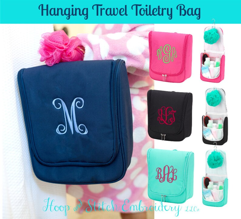 Hanging Travel Bag with Monogram Personalized Hanging Travel image 0