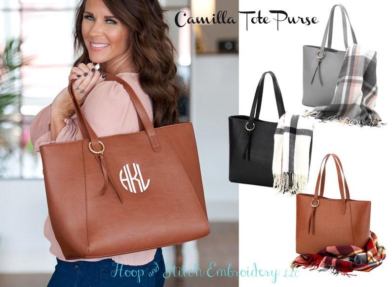 Camilla Tote Purse Viv & Lou® Monogram Purse Personalized image 0