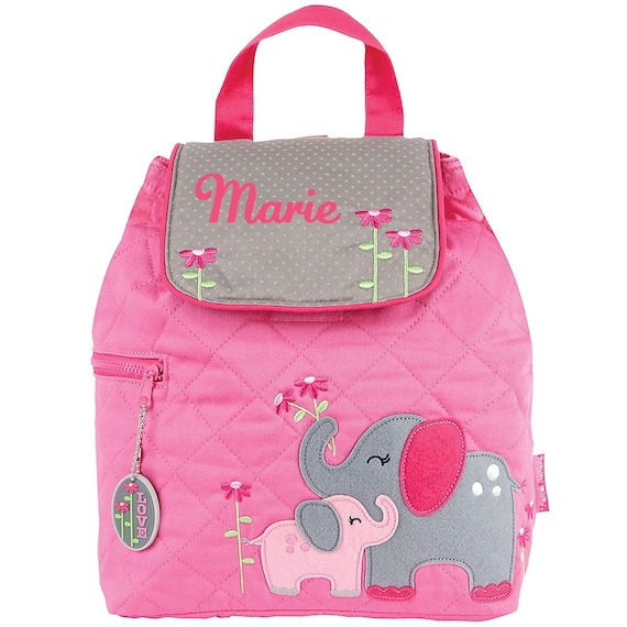 0e7f804fa75a Elephant Pink Quilted TODDLER Backpack Stephen Joseph®
