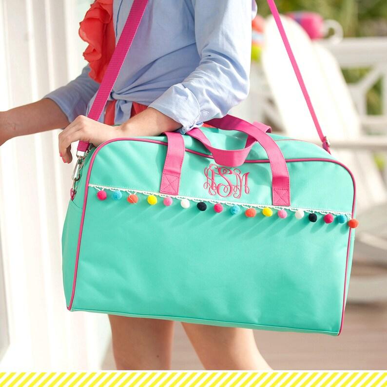 Emily Pom Bag Llama Duffel Personalized Girls Duffel Bag Unicorn Duffel Girls Unicorn Bag Girls Travel Bag Viv /& Lou\u00ae Girls Llama Bag