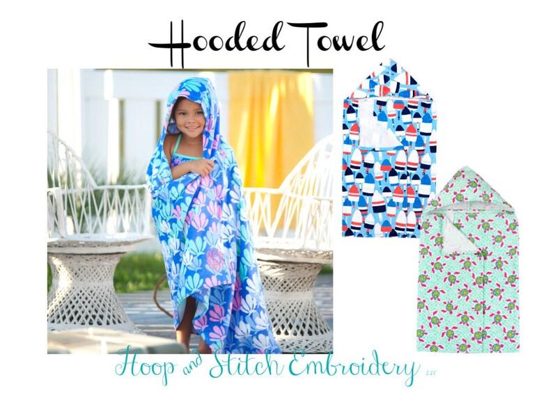 Kid's Hooded Towel with Monogram Turtle Hooded Towel image 0