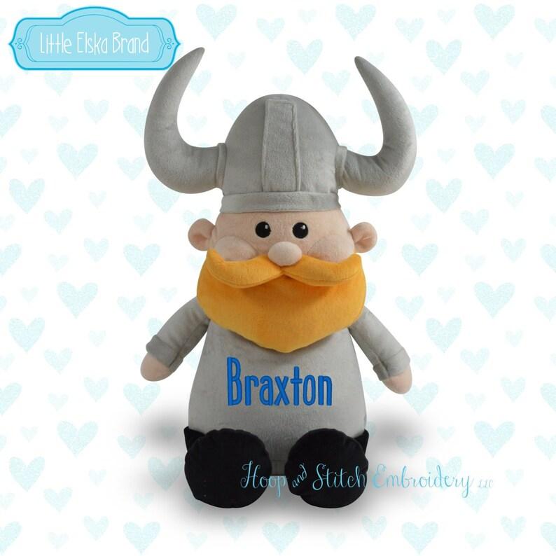 Viking Personalized Stuffie Plush Keepsake Birth irthday image 0