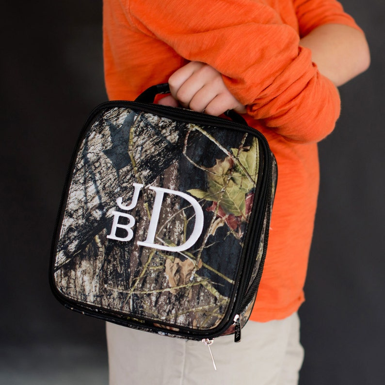 Boys Camo Lunch Bag with Monogram for Back to School Boys image 0