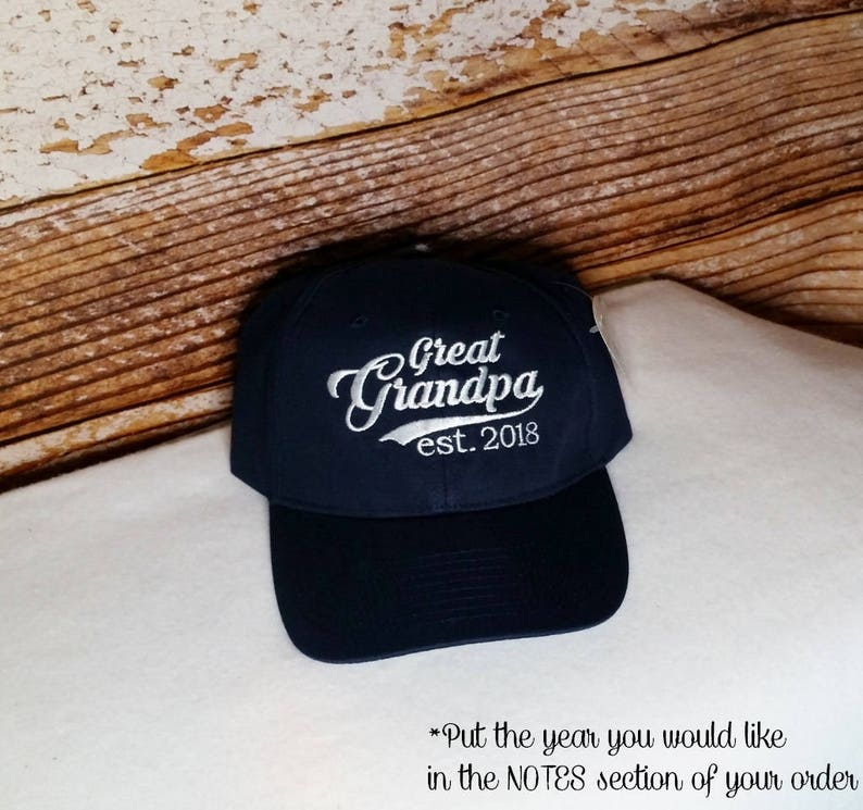 Great Grandpa established 2017 Hat or XXXX Embroidered Perfect image 0