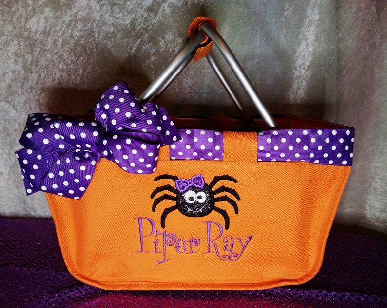 Spider Mini Market Tote Halloween with Name Spider Halloween image 0
