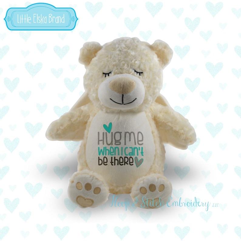 Angel Bear Personalized Plush Little Elska Bear Stuffie image 0