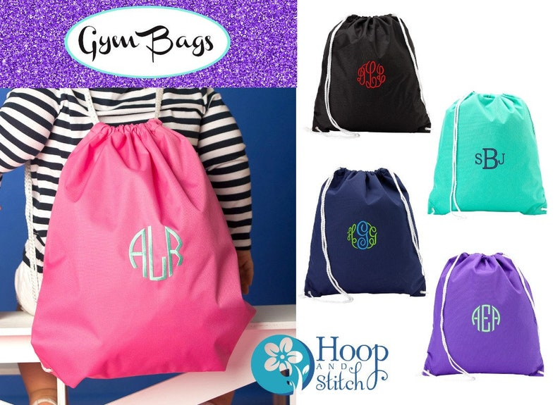 Personalized Gym Bag Monogram Gym Bag Hot Pink Gym Bag image 0