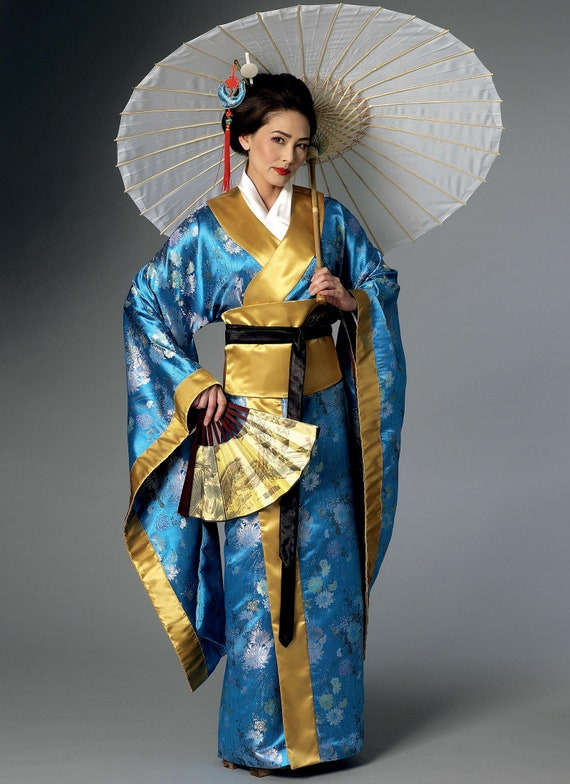 Obi and Belt 6-22 Butterick B6267 Making History PATTERN Kimono Wrap Dress