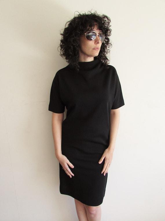 Vintage Little Black Dress Classic Basic Black Shift Dress Etsy