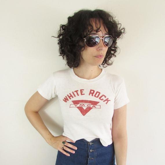 Vintage White Rock YMCA T shirt 1950s 1960s Champ… - image 2