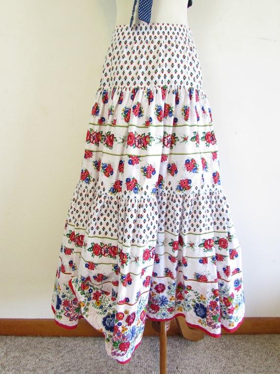 Vintage Liz Sport Skirt 1980s 1990s White Floral … - image 7