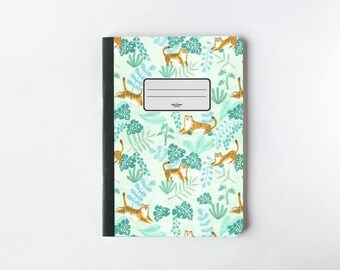Tigers & Leopards Notebook - Journal - Sketchbook - Blank pages - Lined pages