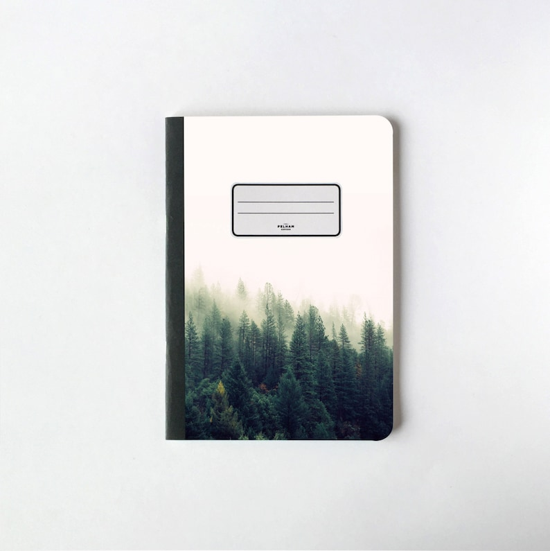 Green Pine Trees Notebook  Journal  Sketchbook  Blank pages image 0