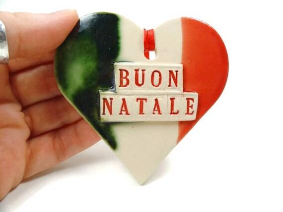 Buon Natale Ornament.Buon Natale Flag Ornament Italian Christmas Tree Ornament Italian Decor Italian Flag Holiday Decor I Love Italy Italian Holiday